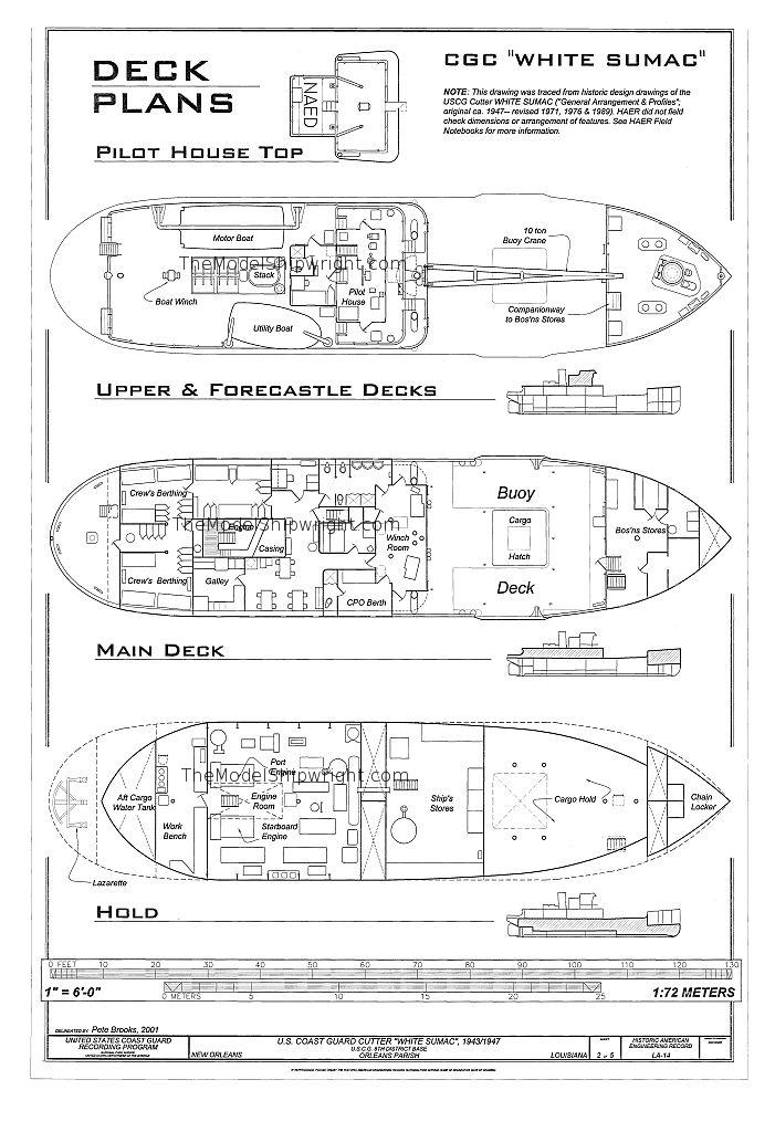 free, ship, plan, coast, guard, cutter, white, sumac, lines, drawing