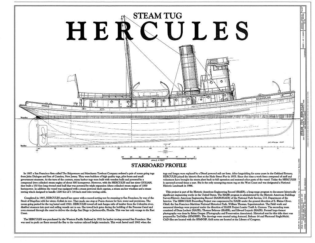 Steam Tug Hercules   The Model Shipwright