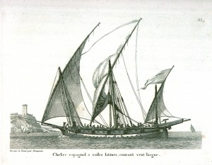 xebec, spanish, ship, lateen, sail