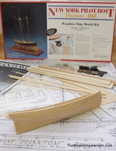 Model Shipways Phantom ship model kit solid hull wood basswood