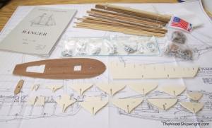 Corel Ranger plank-on-bulkhead ship model kit