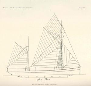 free ship plans, 19th Century, steam, sail, fishing trawler