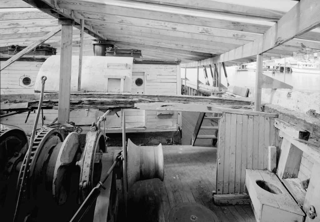 historic lumber schooner wawona main deck photo