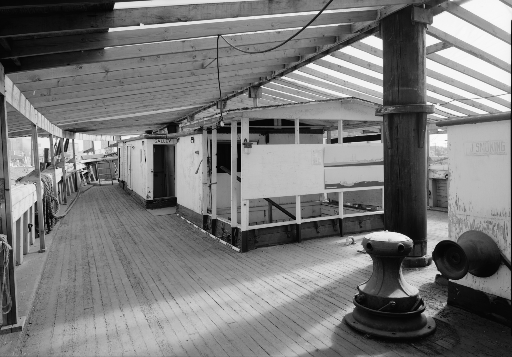 photograph main deck of lumber schooner wawona