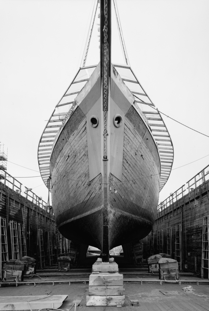 photograph bow drydock lumber schooner Wawona
