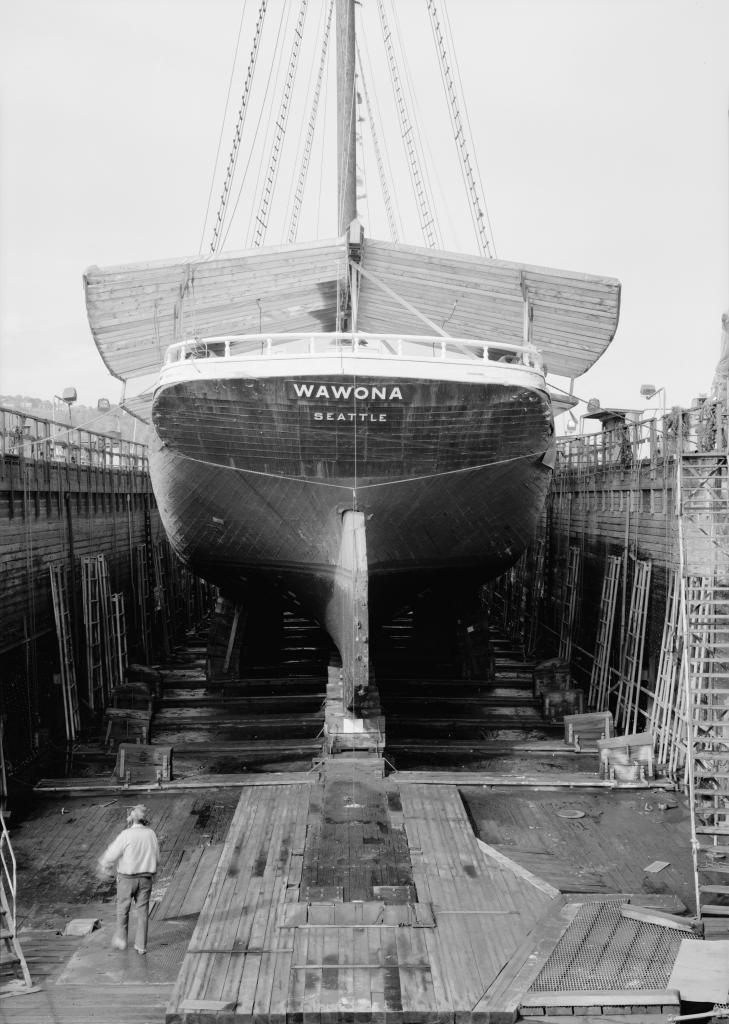 photograph stern drydock lumber schooner wawona
