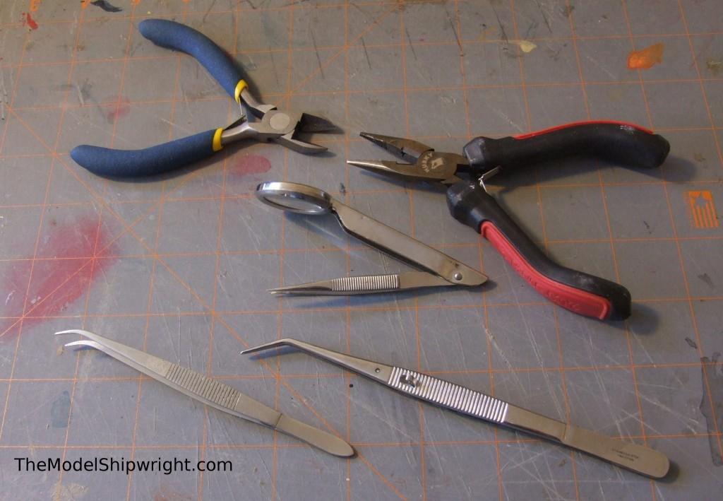 tweezers ship model building tools