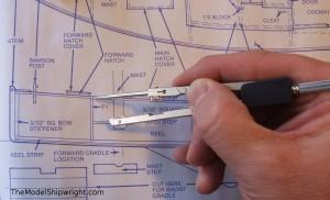 Chesapeake Bay Flattie, ship model kit assembly, mast step