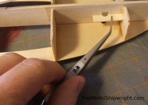 Chesapeake Bay Flattie model ship kit assembly mast step