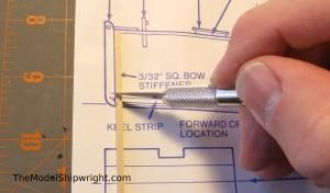 Chesapeake Bay Flattie model ship kit assembly bow stiffeners