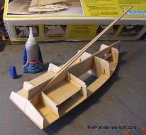 model ship, kit, plank-on-bulkhead, midwest products, chesapeake bay flattie figure 23