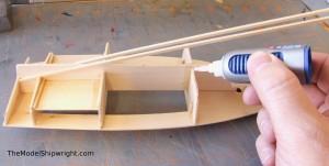 model ship, kit, plank-on-bulkhead, midwest products, chesapeake bay flattie figure 24