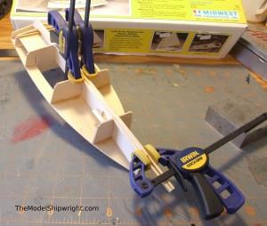 model ship, kit, plank-on-bulkhead, midwest products, chesapeake bay flattie figure 25