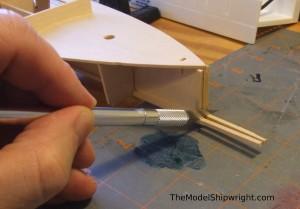 model ship, kit, plank-on-bulkhead, midwest products, chesapeake bay flattie figure 26