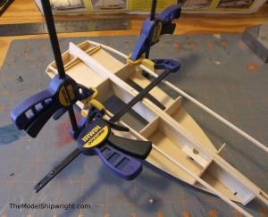 model ship, kit, plank-on-bulkhead, midwest products, chesapeake bay flattie figure 28