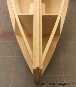 Building Midwest Products Chesapeake Bay Flattie model ship kit  figure 31