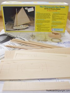 ship model kit building plank-on-bulkhead Midwest Products Chesapeake Bay Flattie