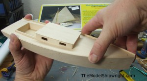 model ship, kit, plank-on-bulkhead, midwest products, chesapeake bay flattie, planking the hull, fitting side planks