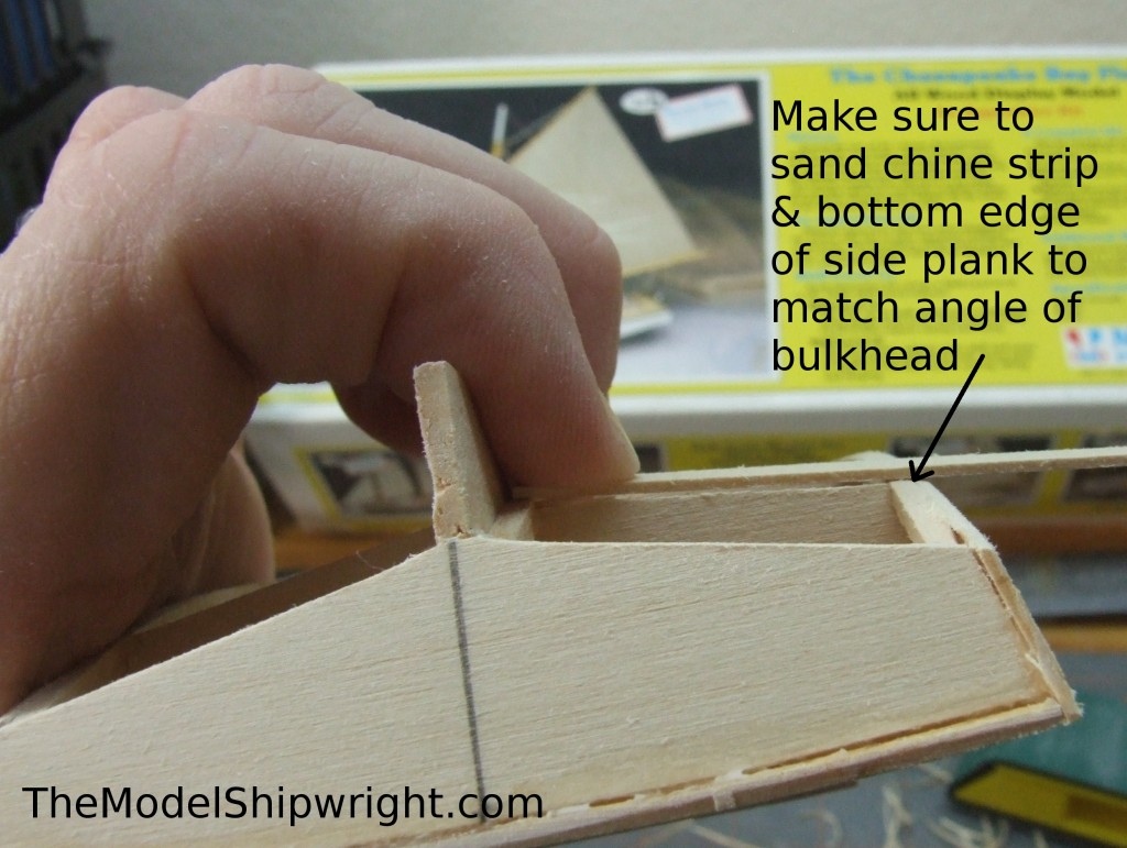 model ship, kit, plank-on-bulkhead, midwest products, chesapeake bay flattie, planking the hull