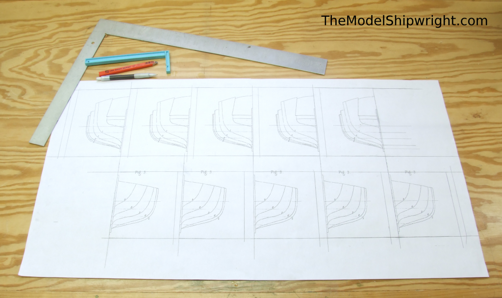 Template blanks, Ship model, Arab, Sambouk, dhow, scratch-building, solid hull, bread-and-butter, section plan, templates