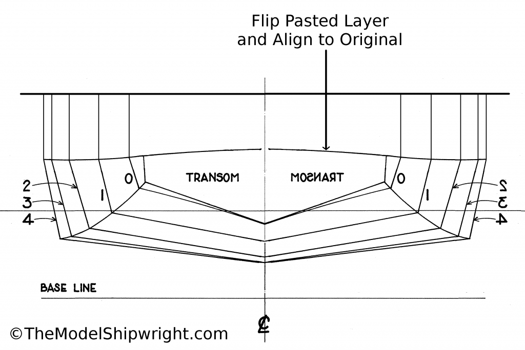 invert, flip, section plan, half, scratch-building, ship model, plank-on-bulkhead, method, Skipjack, E.C. Collier, Chesapeake Bay, Oyster dredge