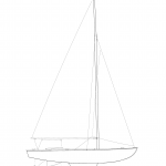 sail plan, Free ship plans, sailboat, day-sailing, Blanchard, Junior Knockabout, steam-bent, frame, depression-era